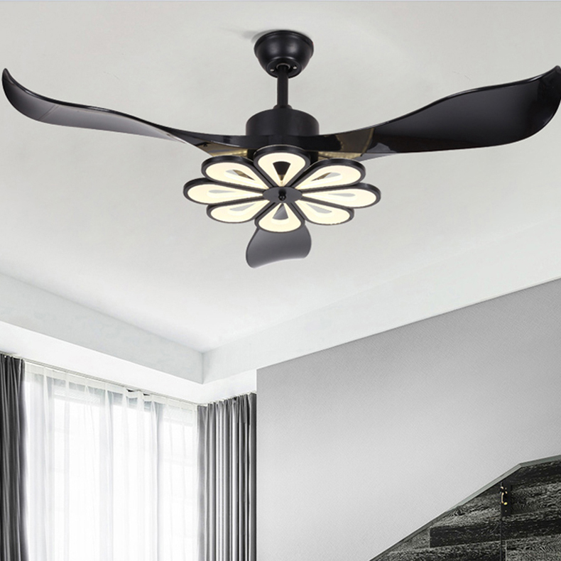Contemplative Creative Ceiling Fan With Lamp Modern Mount Ceiling Fan With Led Lamp Kits And Remote Control 42/52 Inch 220v Superior Performance