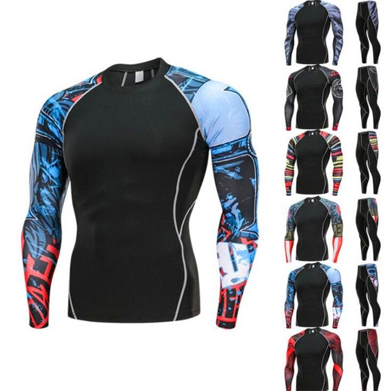 O-cou course pull homme Sport de plein air porter manches longues pantalon séchage rapide Anti-sueur Jogging costumes serrer ensembles de course