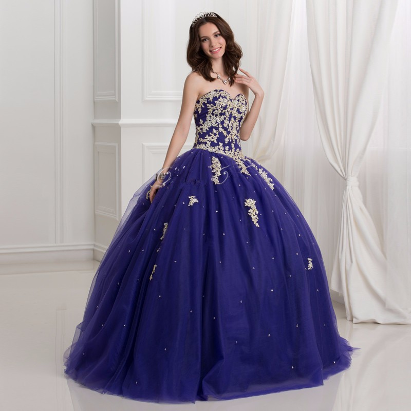 Dark-Royal-Blue-Ball-Gown-Quinceanera-Dresses-With-Gold-Lace-Applique-2016-Puffy-Sweet-16-Dress