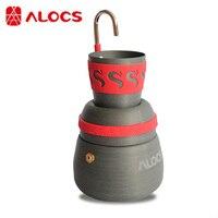Alocs Outdoor Camping Stove Coffee Maker Tea Moka Pot Cup Mug 350ml Portable Lightweight CW EM01