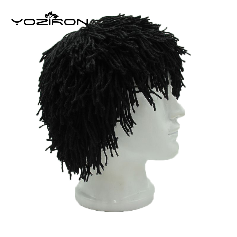2019 New Style New Hot Handmade Wig Winter Beanie Hat For Men Women Adult Warm Novelty Knitted Caps Men Women Halloween Gifts High Quality And Low Overhead