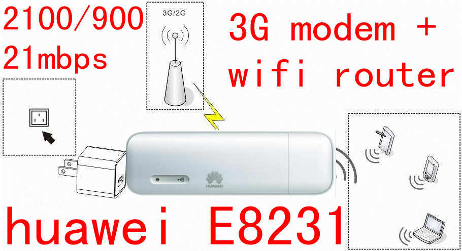 Unlocked HUAWEI E8231 3G 21Mbps WiFi dongle 3G USB wifi modem auto Wifi Ondersteuning 10 Wifi Gebruiker 3g modem wifi auto