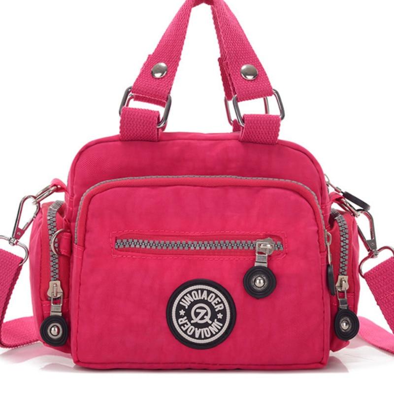 Jinqiaoer New Handbag For Women Very Light Washed Nylon Waterproof Shoulder Bag Multifunction Zipper Handbags Bolsos Mujer In Top Handle Bags From Luggage