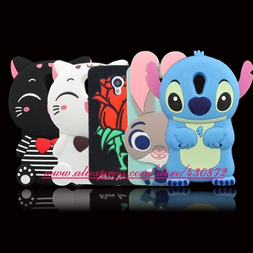 """For MEIZU M3 Note 3D Silicon Stitch Rose Cat Bunny Cartoon Soft Phone Back Cover Case for Meizu M3 Note / Meilan Note 3 5.5"""""""
