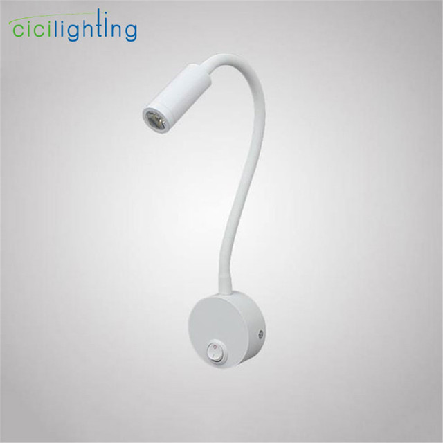 Wit LED Bedlampje, Wandlamp, Nachtlampje, 3 W Zwanenhals Led ...