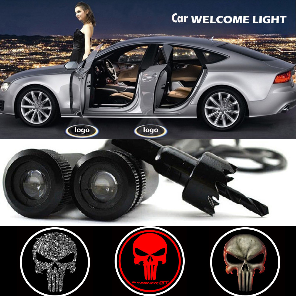 2x Car Door Wireless 7W LED Laser Projector Ghost Shadow Light For Ford Edge