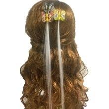 Бабочка флэш-волос светодиодный оплетка для женщин красочные светящиеся заколки для волос оптоволоконная заколка светящиеся игрушечные лошадки вечерние Хэллоуин ночь Рождество Декор
