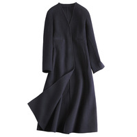 Europe And America Fashion Women 2018 Autumn Winter New Double Face 100 Wool Coat Female Sexy