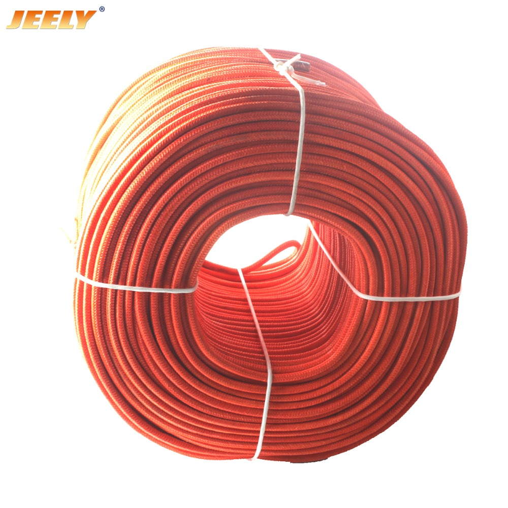Free Shipping 1.7mm 50M UHMWPE Fiber Core with Polyester Jacket Towing Rope Round Stiff Cord