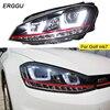ERGGU Car Styling Headlight For VW GOLF 7 MK7 GOLF7 Headlights LED Head Lamp DRL Lens