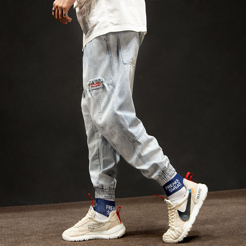 Hip Hop Joggers Men 2019 New Design Pockets Casual Pants High Street Trousers Elastic Waist Skateboard Sportswear