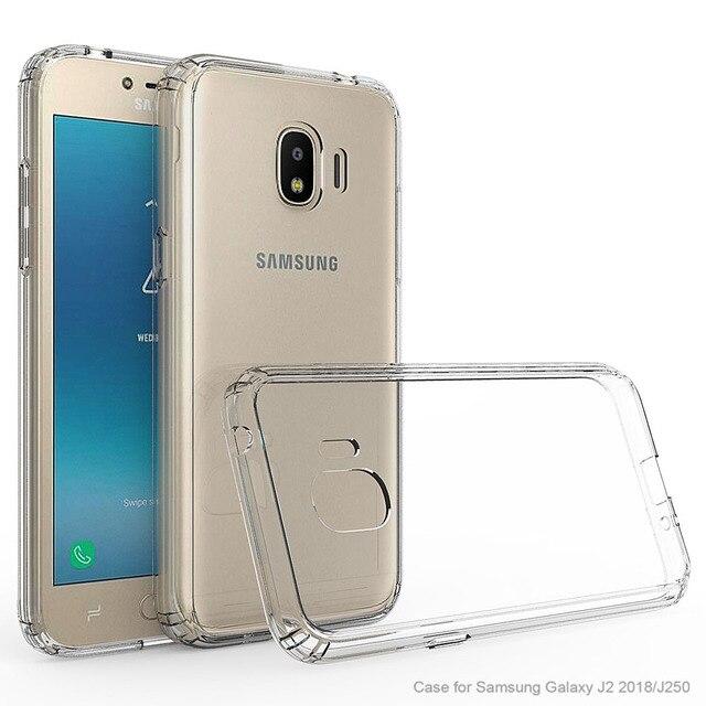 huge discount e9891 7a4ad US $2.53 15% OFF|For Samsung Galaxy J2 Pro 2018 J250F / J2 2018 / Grand  Prime Pro Case Transparent Clear Case Anti Scratch Slim Hard Back Cover-in  ...