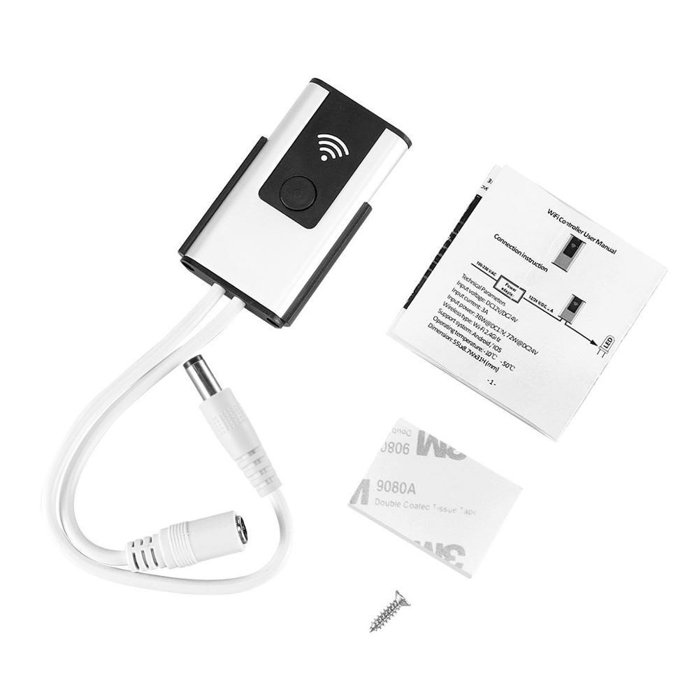 Купить с кэшбэком Smart Wireless WIFI Controller for LED Light Strips to RGB Light with Music in Amazon Alexa and Google Home with APP Womo Smart
