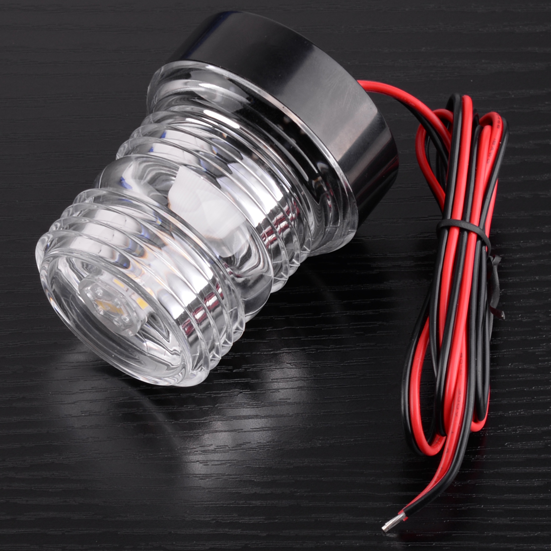 beler 12V Dustproof Waterproof Super Bright Marine Boat Yacht Stern Anchor LED Navigation Lights 360 All round White Lamp