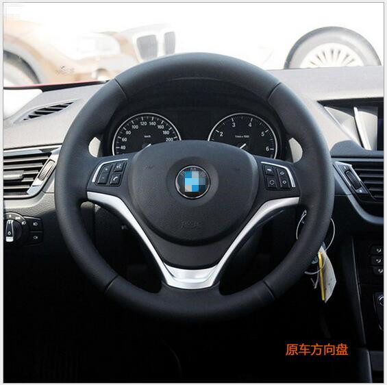 Black Hand Stitched Car Steering Wheel Cover For BMW X1 2014 Custom Special Automobile Handle In Covers From Automobiles Motorcycles On