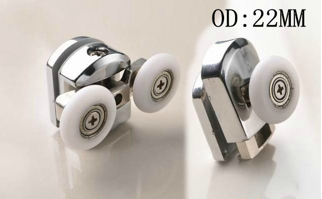 Shower Door Wheel Bathroom Accessories Glass Hardware Zinc Alloy Shower Rollers-in Door Rollers