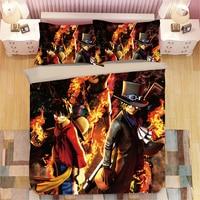 3D Anime One Piece Duvet Cover Sets 3D Bedding Set Luxury Comforter cover Pillowcase single double king cartoon quilt cover sets
