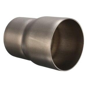 Image 5 - 1 Pcs 스테인레스 스틸 오토바이 배기 튜브 어댑터 감속기 60 ~ 51mm 3.31 인치 길이 오토바이 배기 파이프 액세서리