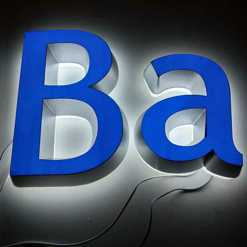 3D Custom acrylic led illuminated signage shop name board