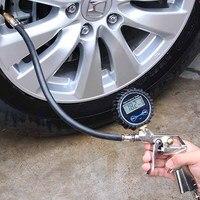 מד לחץ דיגיטלי צמיג דיוק גבוה מד מד לחץ דיגיטלי צמיג צמיגי אוויר Inflator כלי לכל המכוניות 220PSI
