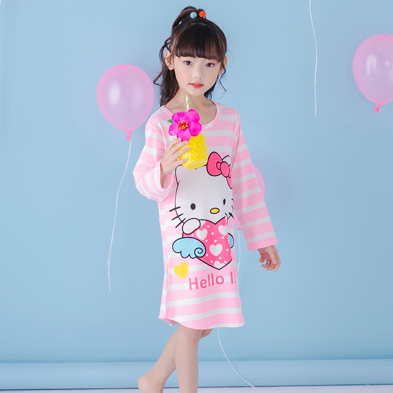 100% Cotton Girls Pajamas Hello Kitty Kids Pajama