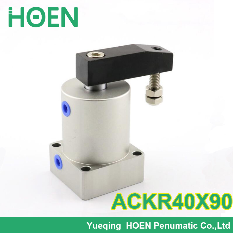 ACKL40X90 ACKR40X90 Airtac type ACK series 40mm bore Twist Clamp Cylinder Rotary pneumatic cylinder  ACK40-90L  ACK40-90R original airtac twist clamp cylinder ack series ackl25x90