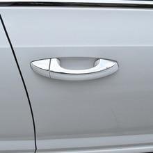 Для Skoda Octavia- наружные дверные нагрудные вышивки украшение для дверной ручки яркая полоса из нержавеющей стали нагрудные вышивки