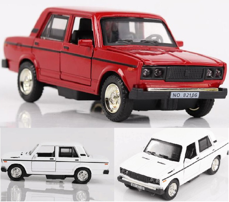 High Simulation 1:32 Alloy Pull Back Car Model LADA Classic Car Metal Die-cast Toy Cars With Sound Light Kids Toy siku die cast metal model simulation toy 1 32 scale ropa beet harvester educational car for children s gift or collection big
