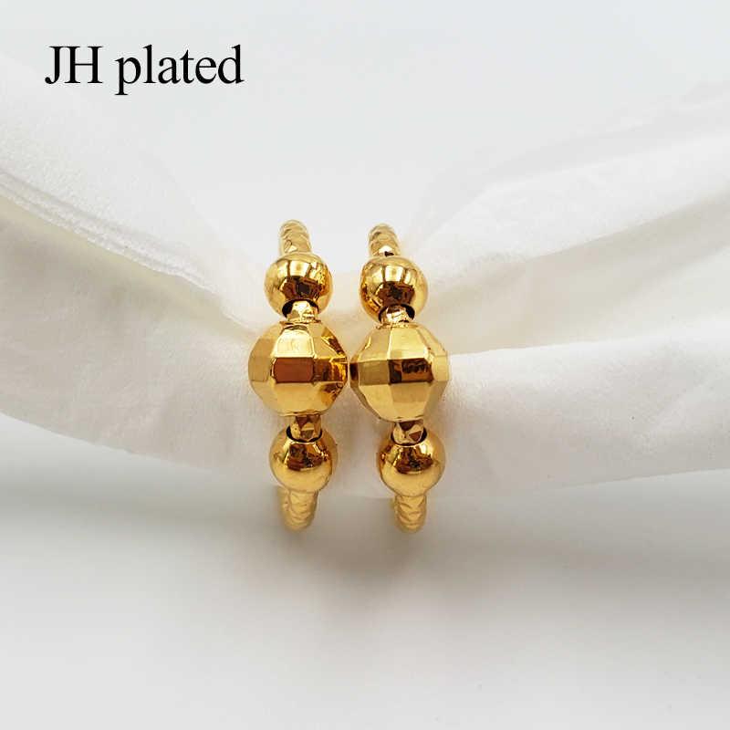 JHplated 2019 الأزياء 24K الذهب اللون أقراط صغيرة للنساء/مجوهرات للبنات مع الاثيوبية أفريقيا ، العربية ، الشرق الأوسط أفضل هدية