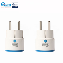 NEO COOLCAM NAS WR01ZE 2 개/몫 Zwave 콘센트 플러그인 스마트 전원 플러그 EU 소켓 스마트 홈 자동화 경보 시스템 홈