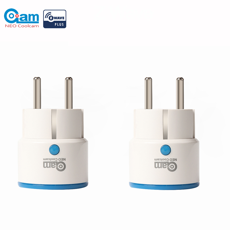 NEO COOLCAM NAS-WR01ZE 2PCS/LOT Zwave Outlet Plugin Smart Power Plug EU Socket Smart Home Automation Alarm System home