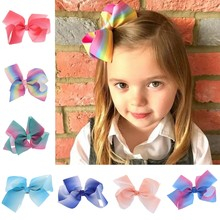 Lovely Designs Boutique Big Hair Bows Alligator Clip Grosgrain Ribbon Bowknot Clip For Girl Drop shipping(China)