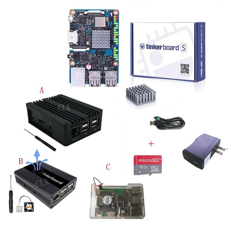 ASUS SBC Tinker Board S RK3288 SoC 1.8GHz Quad Core CPU, 600MHz Mali-T764 GPU 2GB LPDDR3 & 16GB EMMC TinkerboardS Free Ship