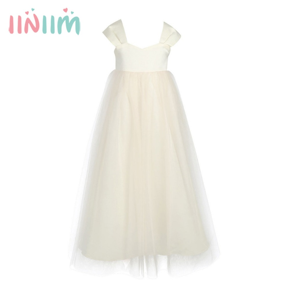 Princess first communion flower girl dress summer wedding for Summer dresses for wedding party