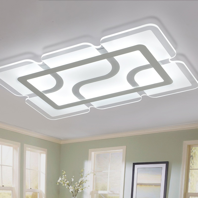 Lights & Lighting Flush Mount Ceiling Light Ceiling Lamps With Remote Control For Living Room Sitting Room Round Modern Lighting Lamparas Dero Jade White