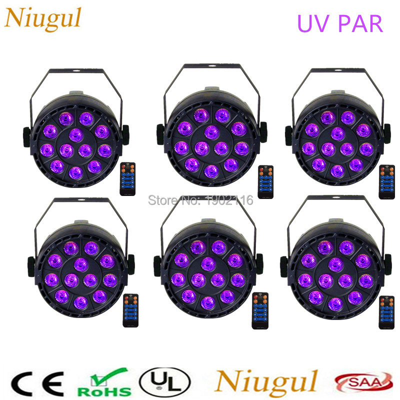 6pcs/pcs 36W UV Led Stage light Remote conrtol Ultraviolet Led par Light for Stage KTV Party Pub Club Disco DMX512 UV LED lamp 36w uv led stage light black light par light ultraviolet led spotligh lamp with dmx512 for disco dj club show party decoration