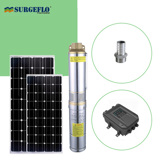 Submersible Solar Power Water Pump 100 Copper Motor With MPPT Function