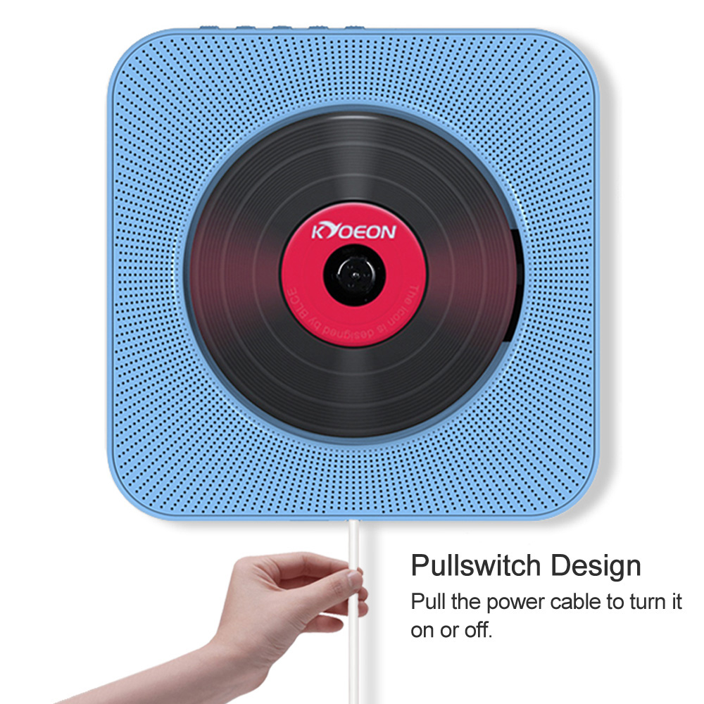 Portable Wall Mounted Cd Player Bluetooth Speakers Home