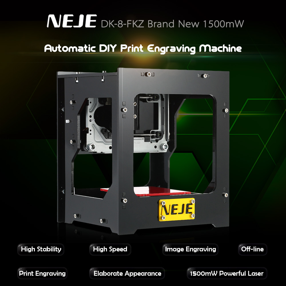 1500mW Cnc Router USB Laser Cutter Laser Engraver Automatic DIY Laser Engraving Machine Off Line Operation