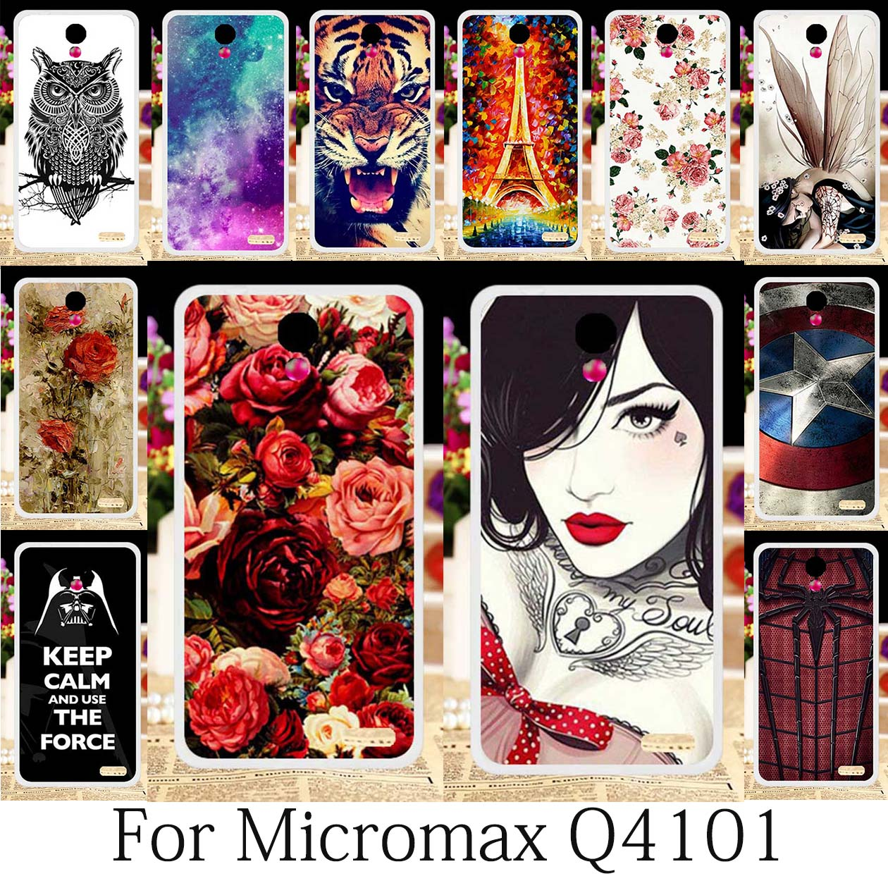 TAOYUNXI Cases For Micromax Vdeo 2 Q4101 Cases Micromax Bolt Warrior 1 Plus Q4101 Case Silicone Girls Cases Coque Anime 4.5inch