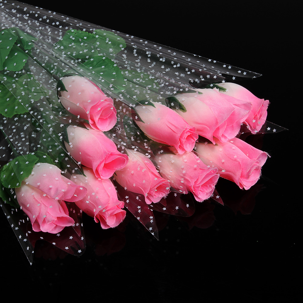11pcslot Fresh White Rose Artificial Flowers Real Touch Rose