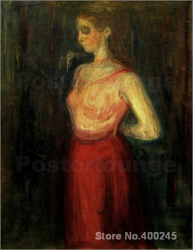 Symbolism Edvard Munch Model Study oil Painting High quality Hand painted