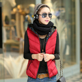 Autumn and winter women's with a hood down wadded jacket Women vest female autumn and winter vest outerwear vest