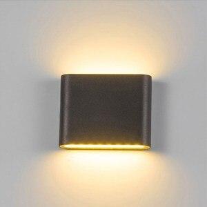Image 3 - Уличная светодиодная настенная лампа, 6 Вт, 12 Вт, бра для крыльца, декоративная лампа для коридора, водонепроницаемый садовый светильник для дорожек, ландшафта, 110 В, 220 В