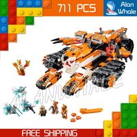 711pcs Bela New 10357 Tigers Mobile Command amazing fascinating Model Building Blocks Toys Gifts For Boys Compatible with Lego