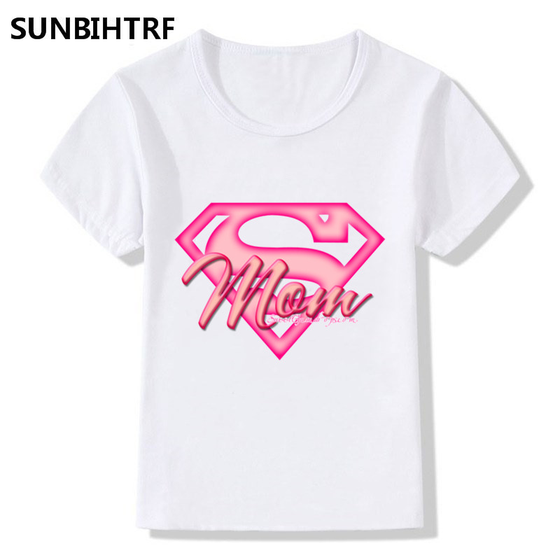 2018 Supermom Design Children Funny Cool T shirt Big Boys ...