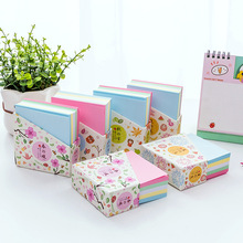 Coloffice kawaii Thick Candy-colored brick note paper memo pads Mini portable simple stationery Blank 300 pages random 1 piece