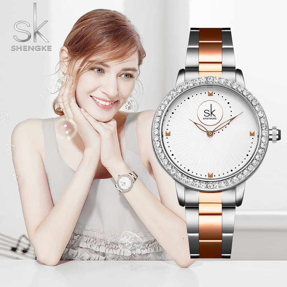 נשים שעונים נשים אופנה שעון 2019 מעצב גבירותיי שעון יוקרה יהלומי קוורץ RoseGold שעון יד מתנות לנשים