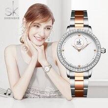 Montre genève pour femmes, bracelet de luxe pour dames, diamant, Quartz, RoseGold, cadeaux, collection 2019