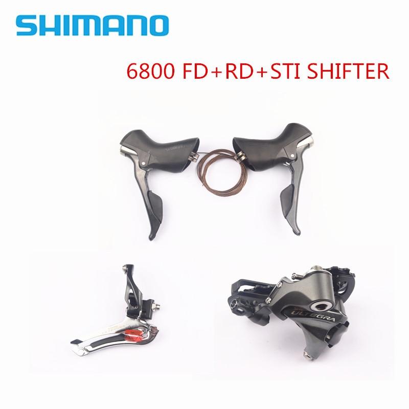 MELHOR PREÇO! Desviadores SHIMANO Ultegra 6800 ESTRADA Bicicleta Desviador Câmbio Dianteiro + Traseiro + Shifter